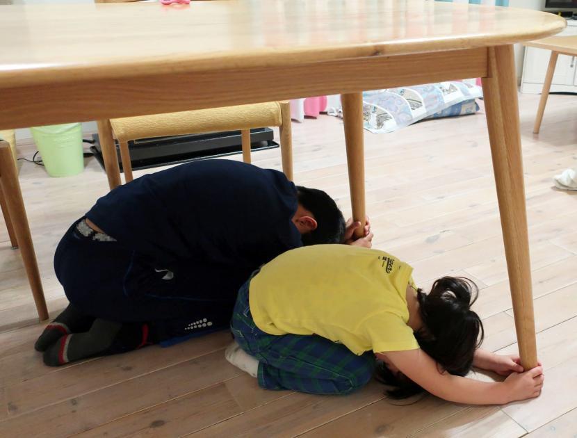 仙台市シェイクアウト訓練写真1