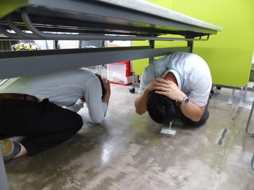 仙台市シェイクアウト訓練写真2